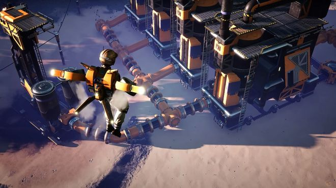 satisfactory-update-4-header Satisfactory update 4 is out, adds hoverpacks and particle accelerators | Rock Paper Shotgun