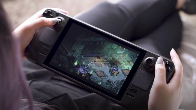 steam-deck All the games in Valve's Steam Deck reveal were running off the SD card | Rock Paper Shotgun