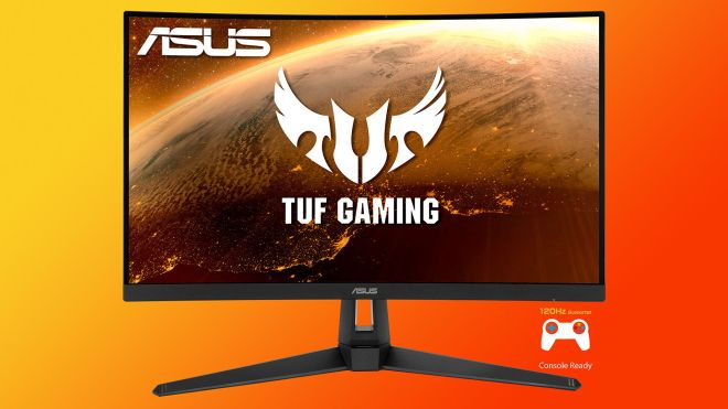 tuf-gaming You can pick up a curved 1440p 165Hz Asus monitor for £289   Rock Paper Shotgun