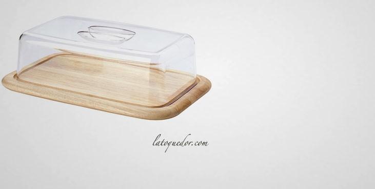 plateau a fromage rectangulaire avec couvercle