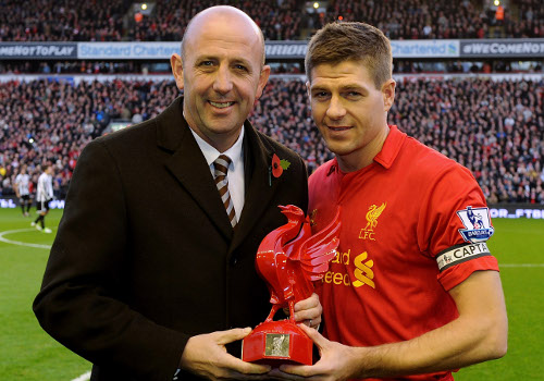 Gerrard has played 600 games for Liverpool