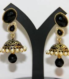 Buy BEAUTIFUL BLACK MEENAKARI JHUMKA jhumka online