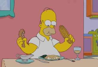 Image result for homer eating