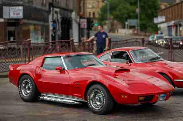 Vibrant Red Corvette