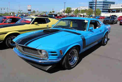 Grabber Blue Boss 302 Mustang