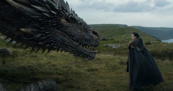 De gigantische draken in Game of Thrones S7