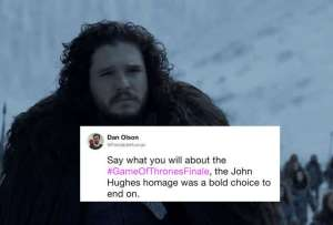 The 'Game of Thrones' Finale Recut as a John Hughes Tribute Is Kind of Perfect