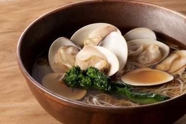 Sarashina Horii soba hamaguri with clams