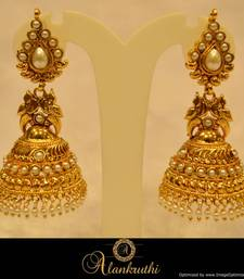 Buy Alankruthi Fancy Gold Jhumka 22 jhumka online
