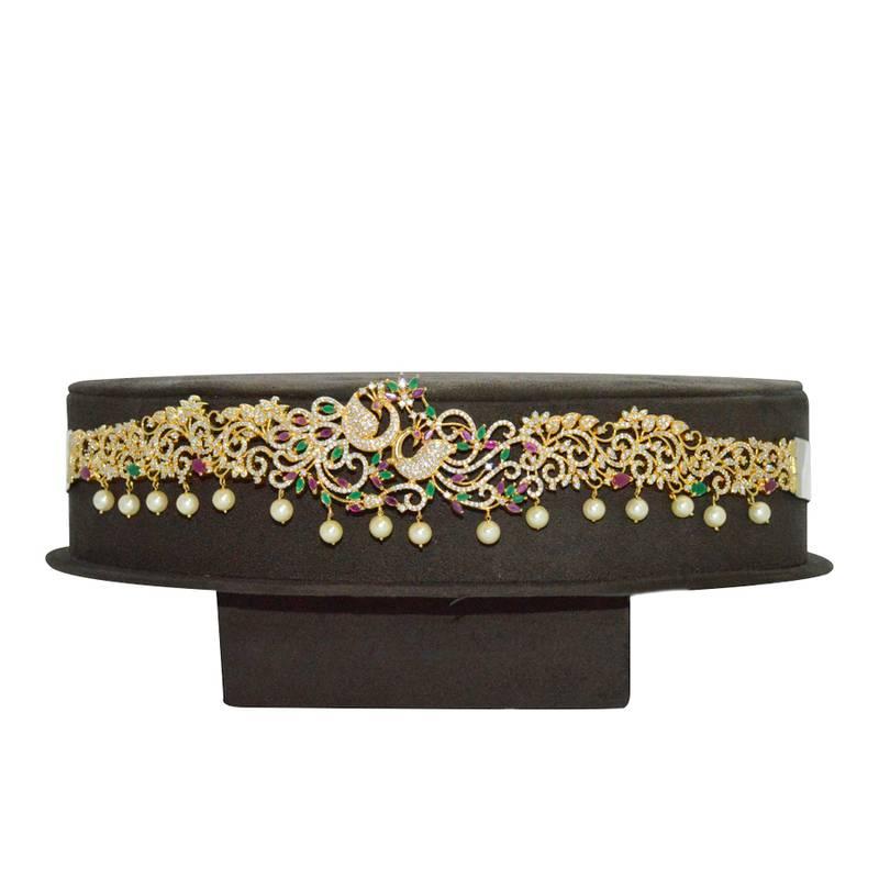 Buy Peacock Multicolor Traditional Waist Belt Vaddanam Online