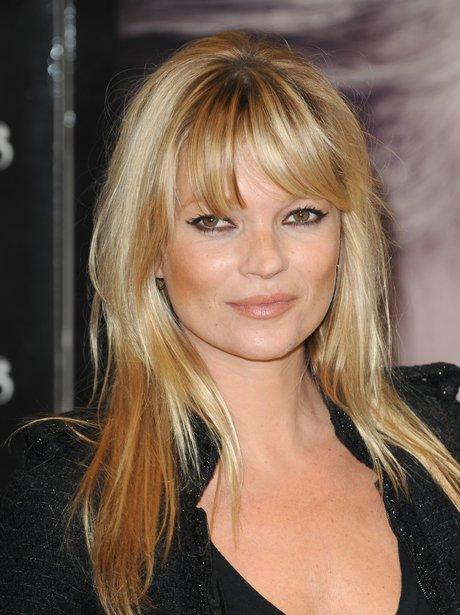 Kate Moss With Fringe Celebrity Hair Fringe Benefits