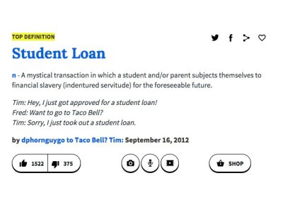 'Student Loan' - 16 Times Urban Dictionary Defined Words ...