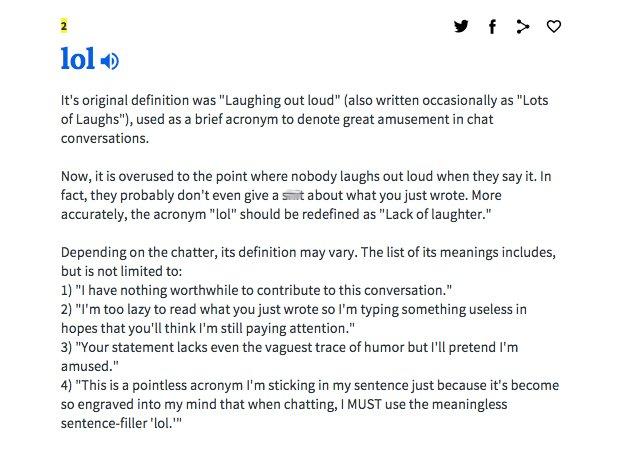 Laugh Out Loud Urban Dic