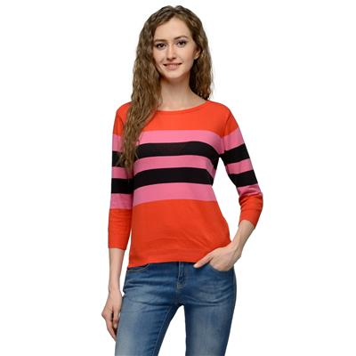 United Colors of Benetton Multicoloured COTTON Top for Women