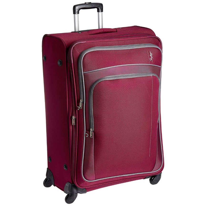 Skybags Polyester 68 cms Magenta Softsided Suitcase