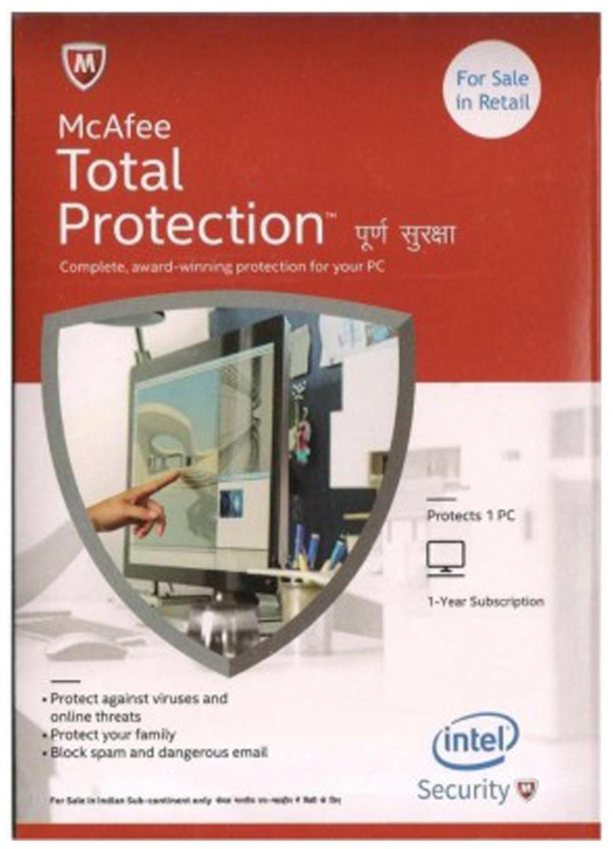 McAfee Total Protection (1 User 1 Year)