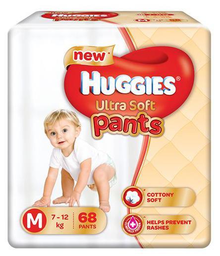 Huggies Ultra Soft Pants Medium Size Premium Diapers 68 pcs