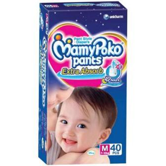 Mamy Poko Extra Absorb Pants Diaper M- 40 Pcs