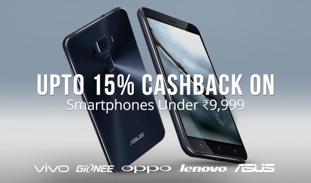 upto 15% cashback on Mobile phones-Paytm