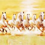 Buy Wallpics Seven Lucky Running Horses Vastu Wallpapers Fully Waterproof Vinyl Sticker Poster For Living Room 12x18 Online At Low Prices In India Paytmmall Com