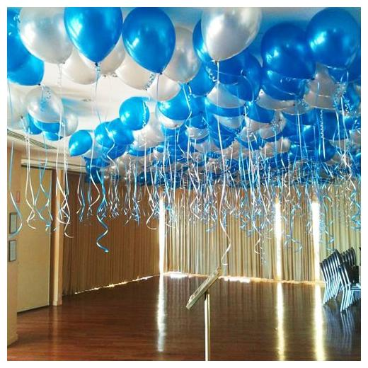 Buy Blue Silver Metallic Extra Shine Party Balloons For Birthday Festival New Year Christmas Party Decoration Frozen Theme Balloons Pack Of 50pcs Online At Low Prices In India Paytmmall Com