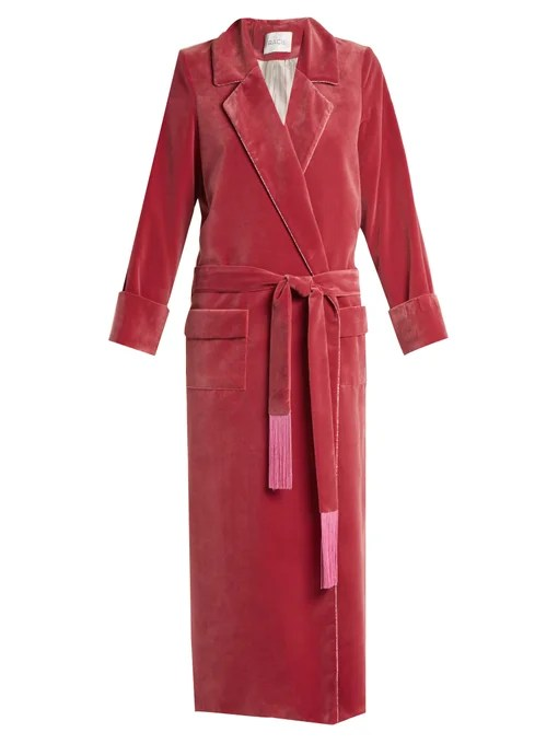Racil High Windsor velvet robe