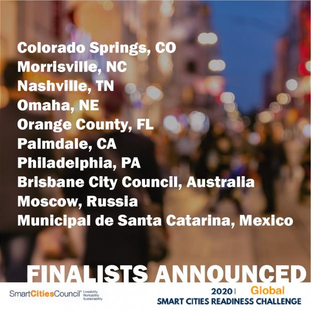 Finalists Announced by Smart Cities Council for 2020 Smart Cities Global Readiness Challenge