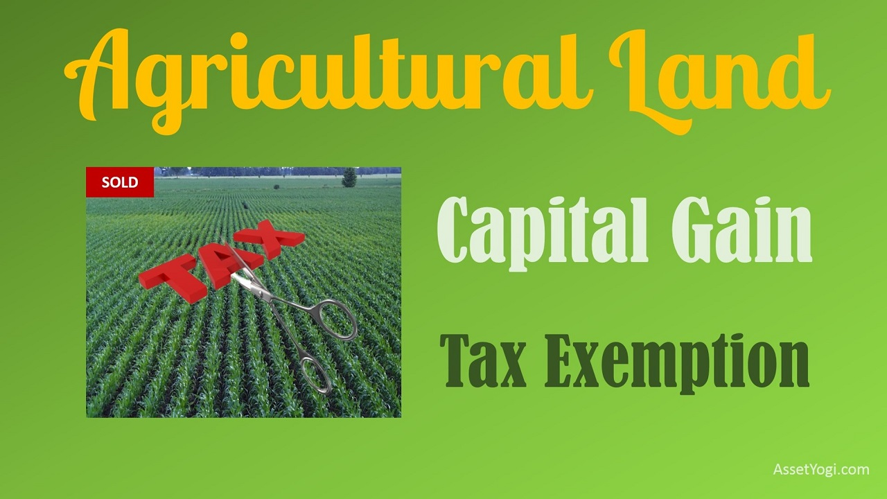 Capital Gain on sale of Agricultural Land     Tax Exemptions capital gain on sale of agricultural land income