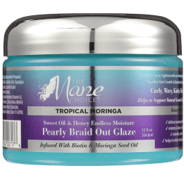 The Mane Choice Tropical Moringa Sweet Oil & Honey Endless Moisture Pearly Braid Out Glaze 354ml
