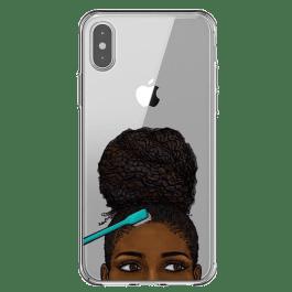 Capa Afro Puff Baby Hair para iPhone (vários Modelos iPhone)