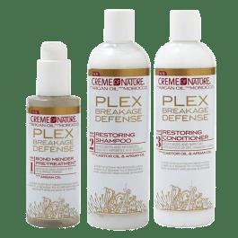 Kit Recuperação & Fortalecimento – Creme of Nature PLEX Breakage Defense