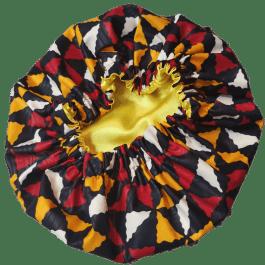 Touca de Cetim Premium (Padrão Africano) (Várias Cores)