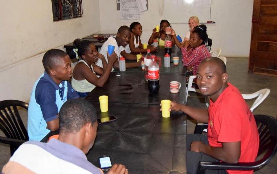 Afskedsaften med lærere og elever