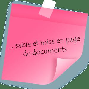Saisie et mise en page de documents