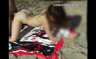 Casal amador fazendo video porno na praia ar livre