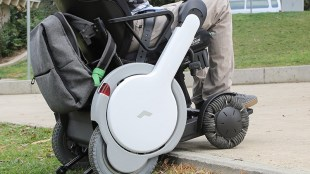 A person in WHILL Type-A wheelchair
