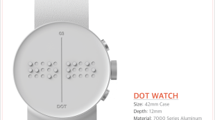 photo of dot braille watch