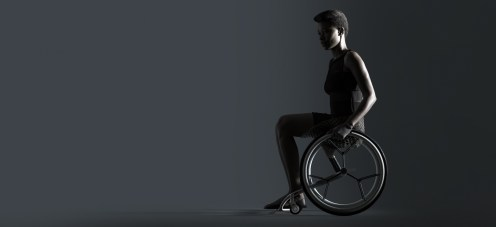 photo of a person sitting in the Go wheelchair