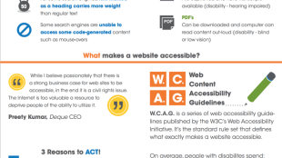 the essential guide to web accessibility. see text below for description.