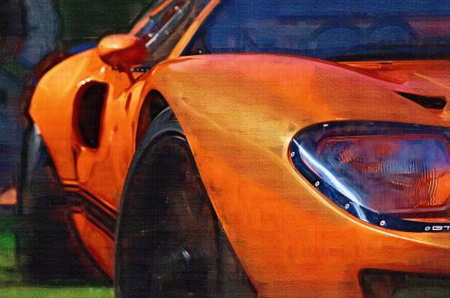"""""""Orange Car 2"""" by Janek Bajerski."""