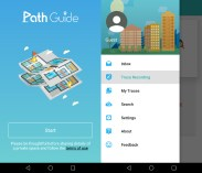 """Path Guide home screen. The option """"Trace Recording"""" is selected."""