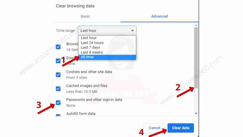 Steps to clear history on Chrome (3)