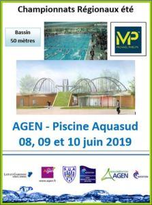 Championnats Régionaux été - 50m @ Piscine Aqua'Sud
