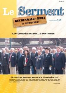 Serment N°316 - Novembre décembre 2007