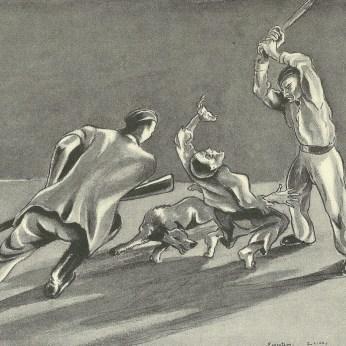 Pierre Mania : Manière d'éxécution dont les bruts SS se délectaient.
