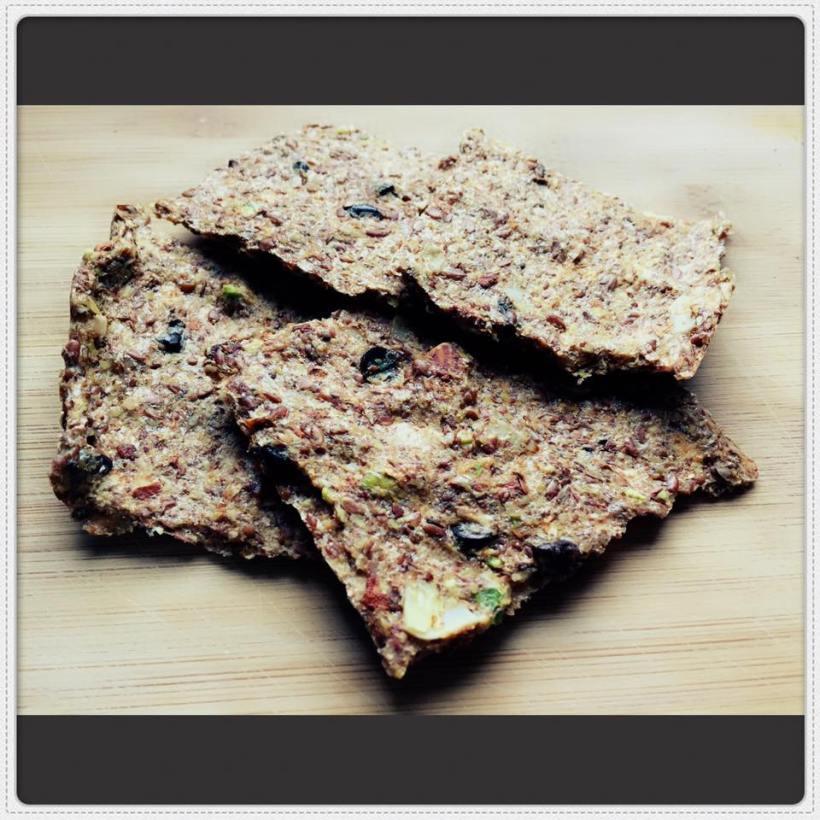 crackers aux graines de lin