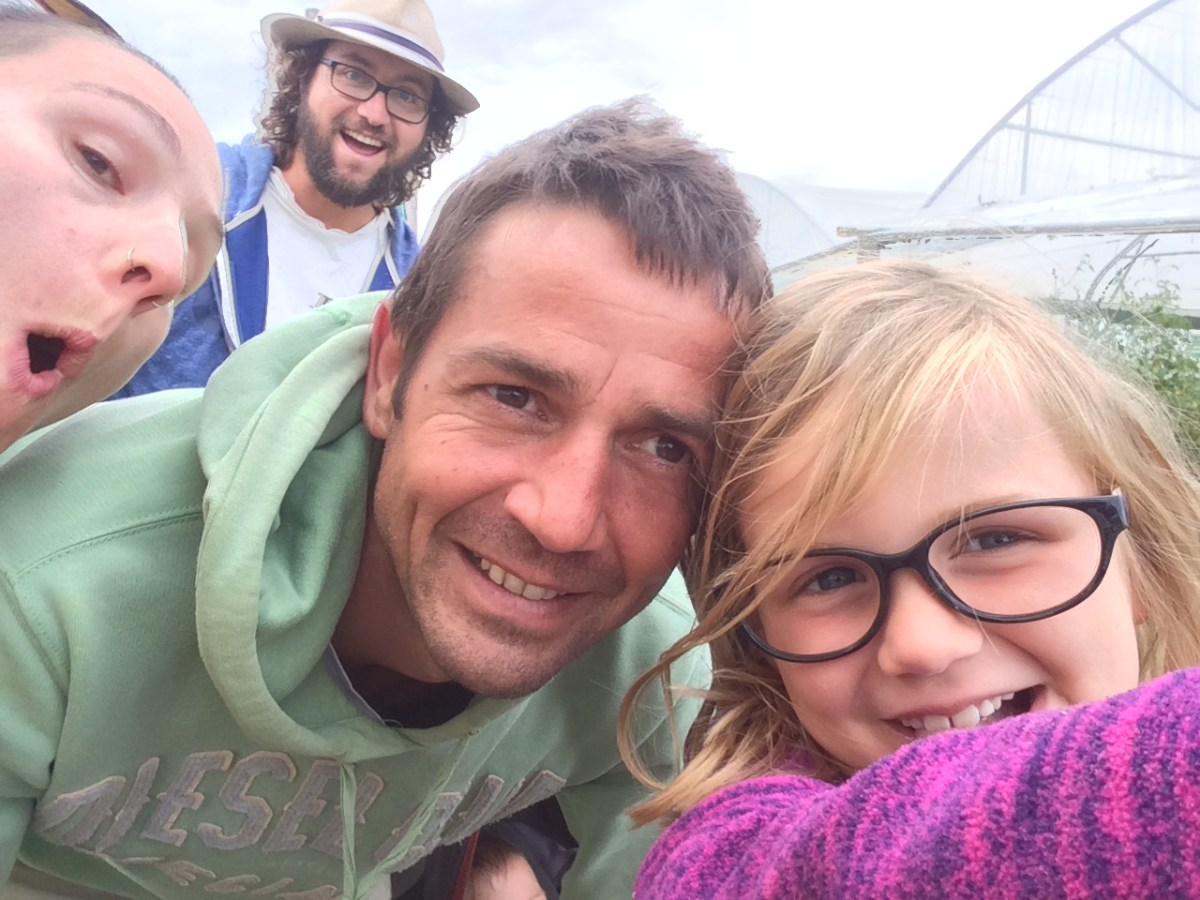 Adrien et sa fille en WWOOFing dans le Perche