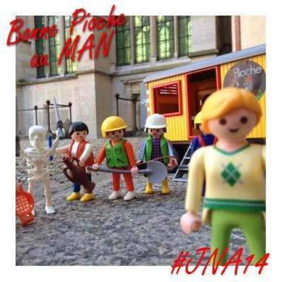 L'équipe du diorama de Bonne Pioche poste aussi son #selfouille !