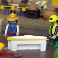 Le diorama du chantier de fouilles de Bonne Pioche