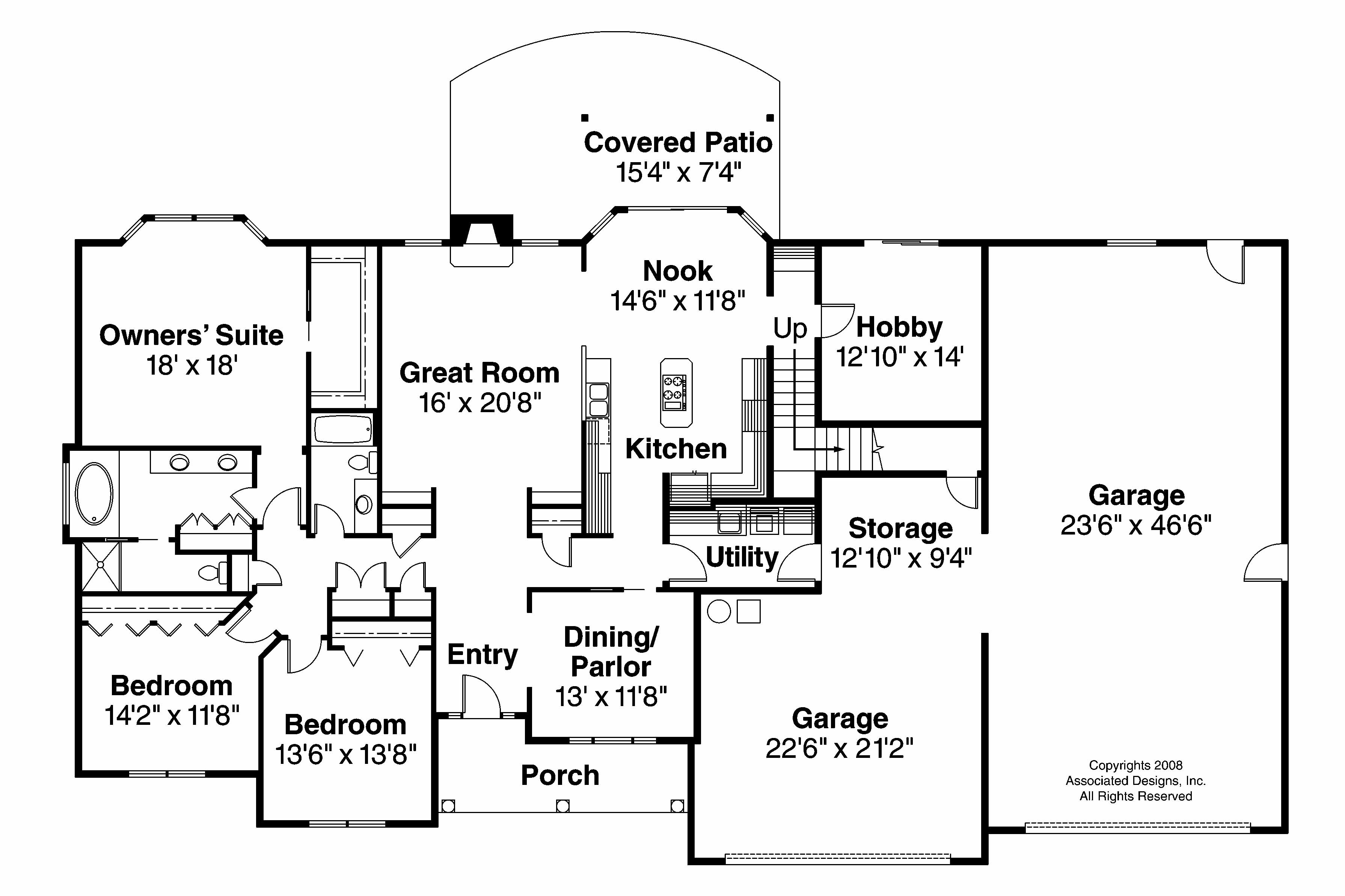 Classic House Plans Wellesley 30 494 Associated Designs